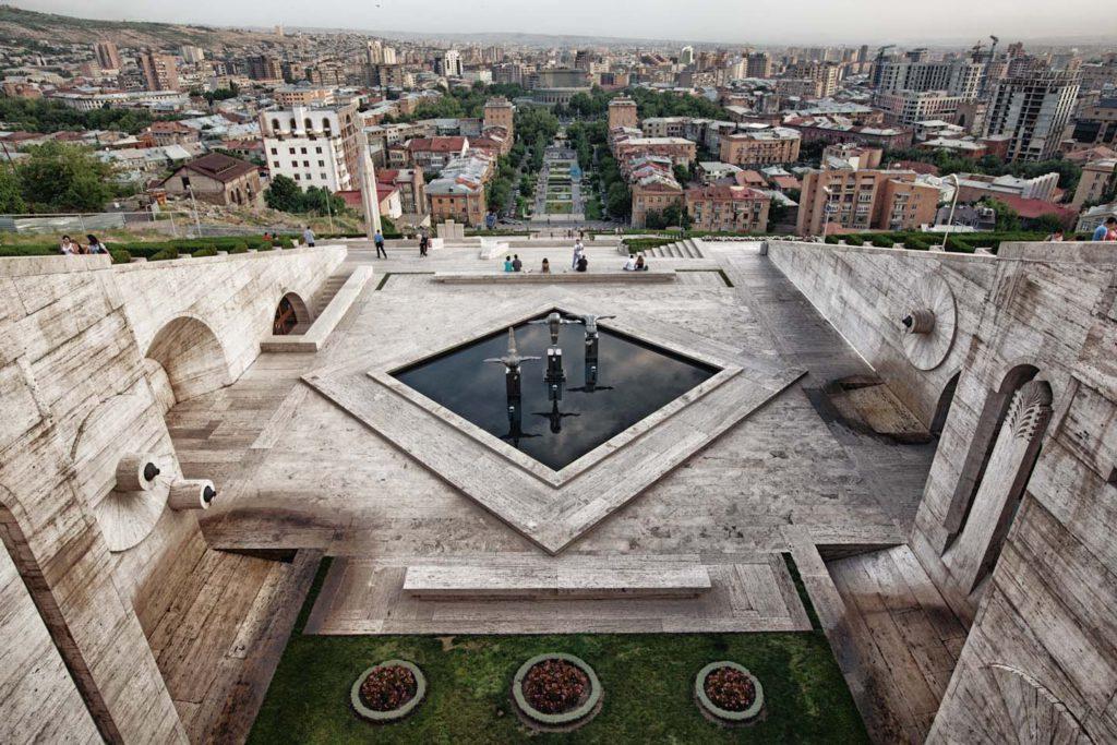 Вид с архитектурного комплекса Каскад. Фото: abrill.net