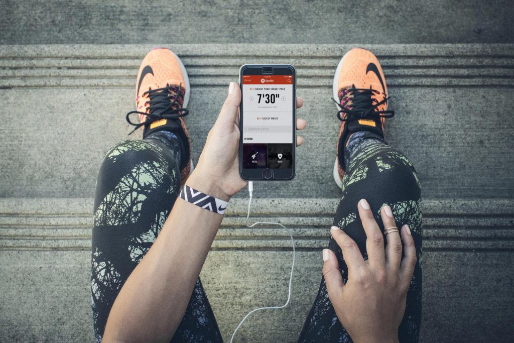 Интерфейс приложения Nike+ Running